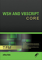 WSH and VBScript Core Cover