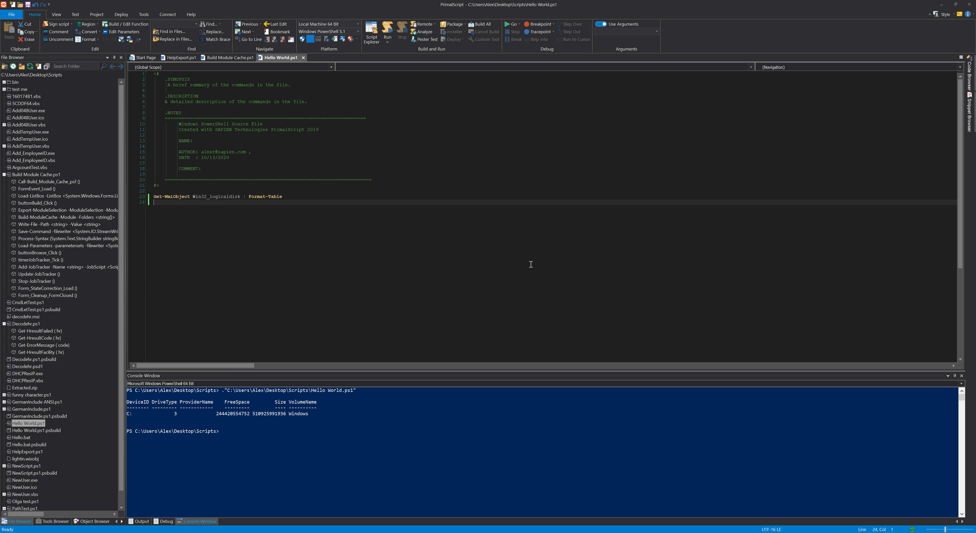 PrimalScript | Scripting and Debugging for PowerShell, VBScript