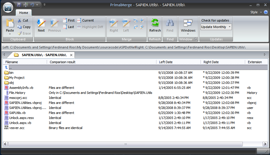 Synchronize folders with PrimalMerge – SAPIEN Blog