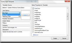 Create Style Template Dialog