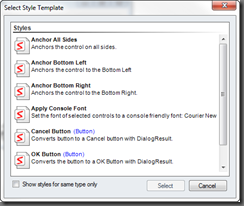 Select Style Dialog