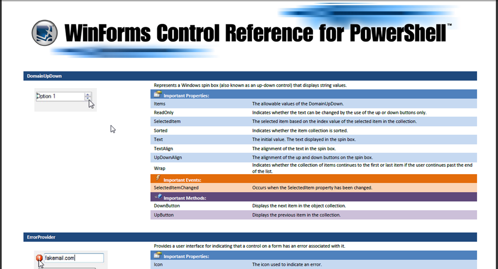 WinForms Control Reference for PowerShell – SAPIEN Blog