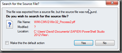 Search for the Source File