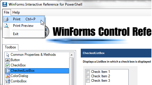 WinForms Interactive Reference Guide for PowerShell – SAPIEN Blog