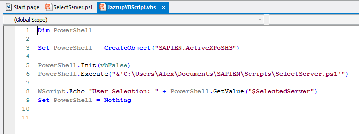 Jazz up your VBScripts with PowerShell and Windows Forms