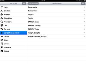 Figure 2: Cloud Service Folder List