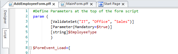 PowerShell Studio – Passing and Returning Values using Forms