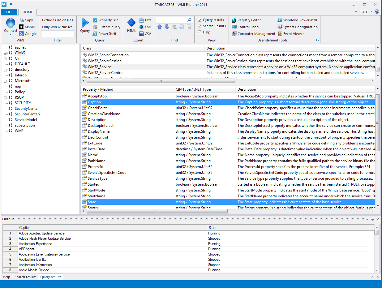 WMI Explorer 2014: Running Queries – SAPIEN Blog