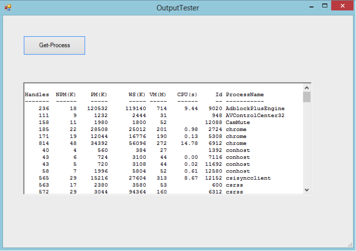 Displaying Output in a GUI Application – SAPIEN Blog