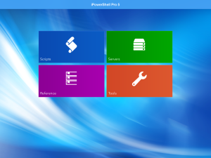 iPowerShell Pro v5: New interface layout
