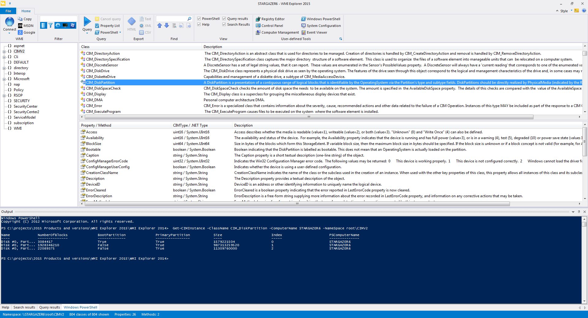 WMI Explorer 2015 gets a PowerShell console – SAPIEN Blog