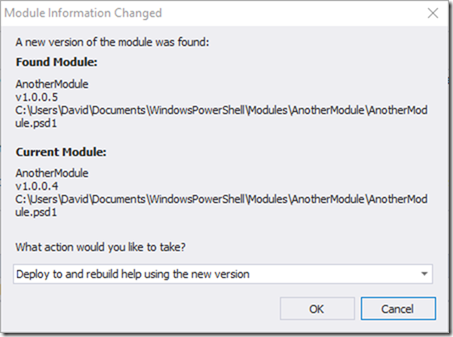 Module Info Changed