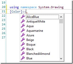 PrimalSense - Namespaces