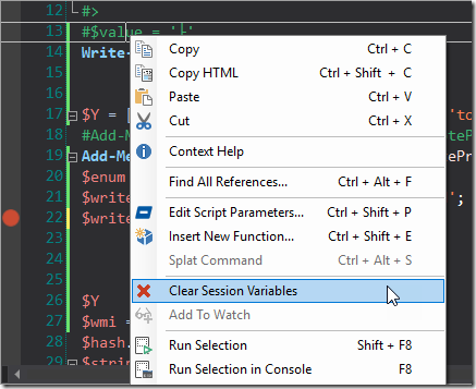 Clear Session Variables