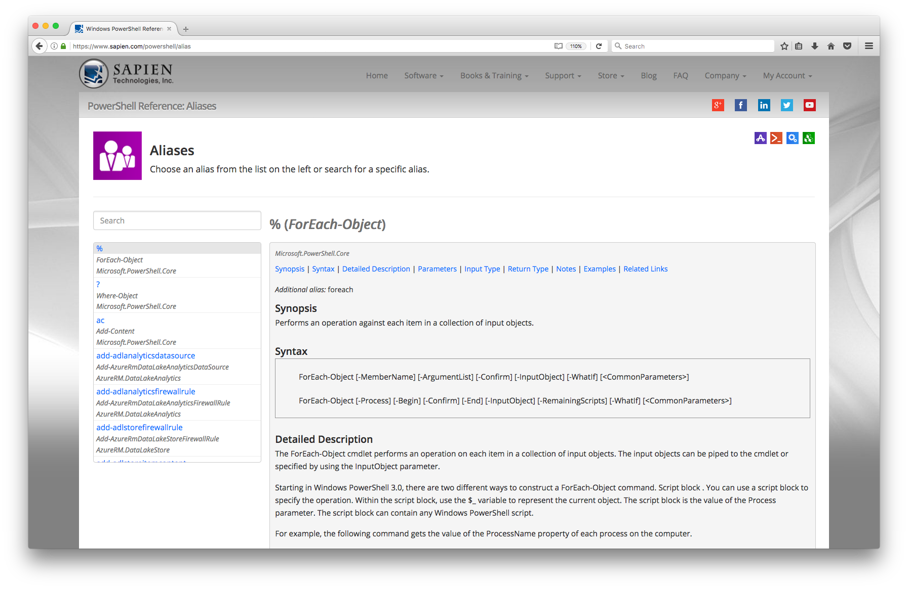Updated Online PowerShell Reference – SAPIEN Blog