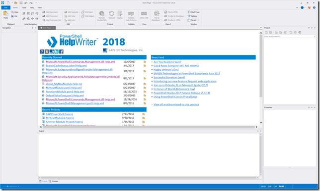 PowerShell HelpWriter 2018