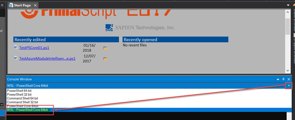 SAPIEN Tools – Setup WSL Bash with PowerShell Core in