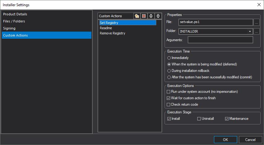Custom Actions in PrimalScript 2018's MSI Builder – SAPIEN Blog