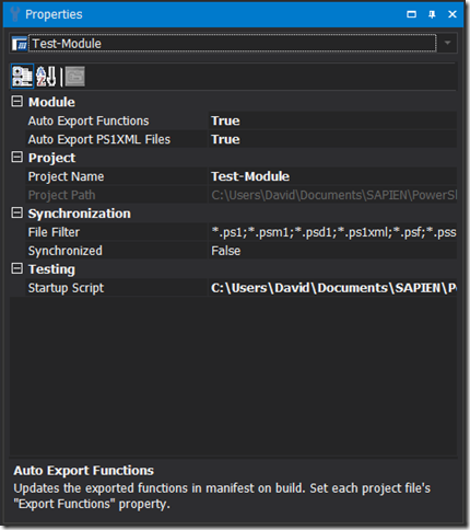 Module Project - Auto Export Properties