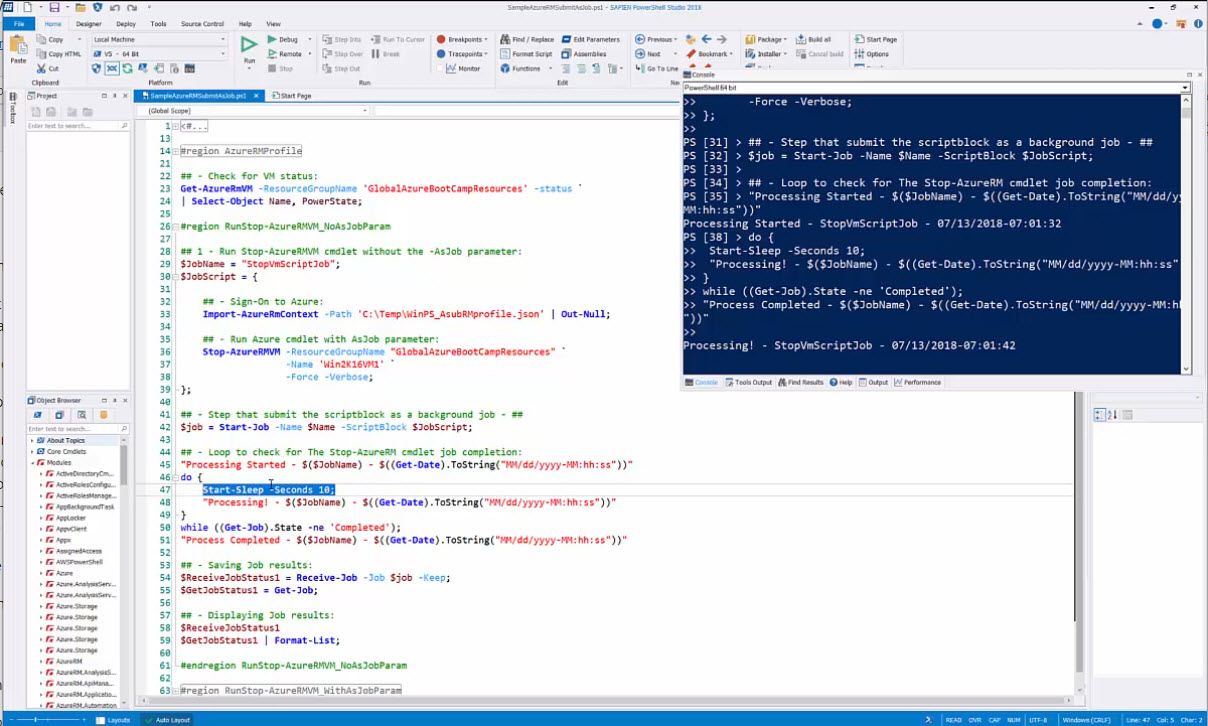 New Video – PowerShell Studio: Working with Azure cmdlets in