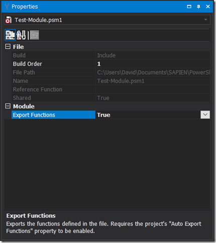 Project File - Export Functions