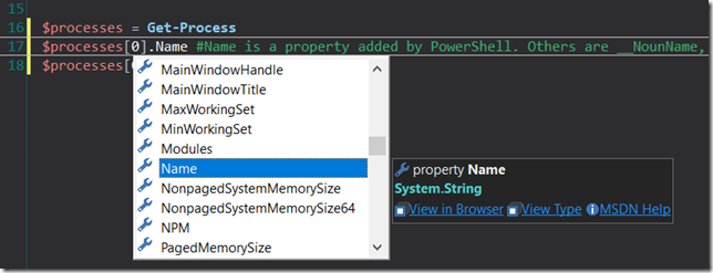 PrimalSense Added PowerShell Properties