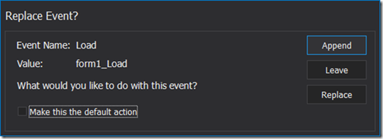 Replace Event
