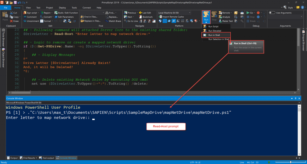 Create a script executable solution to map a shared folder ... on win8 map drive, map airport drive, map of college drive, map computer drive,